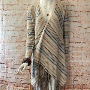 Lucky Brand XS Striped Cardigan Sweater Kimono